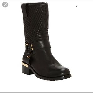 Vince Camuto Waldan Quilted Leather Moto Boot